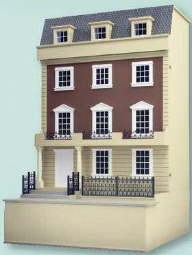 "1:24 Kensington Dolls House Kit (17 3/8H x 14W x 9 1/2""D) (No basement)"