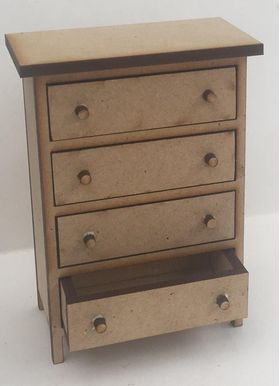 Chest of Drawers Tall Kit Laser Cut (62Wx33Dx85Hmm)