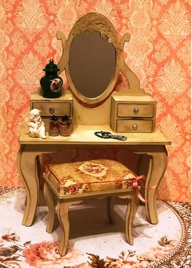 1:6 Dressing Table Note Supplied Raw