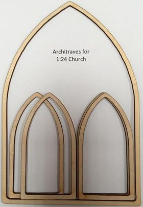 1:24 Laser Cut Architraves for Church Kit