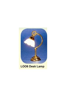 Desk Lamp Brass with Tulip Shade