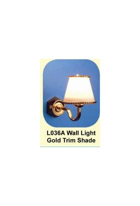 Lights Wall White Shade with Gold trim