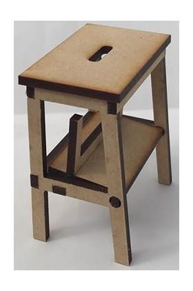 Step Stool Kit Laser Cut (52W x 62H x 34D(closed), 59Dmm(Open))