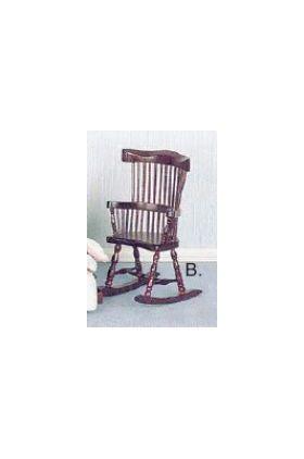 "Chair Windsor Rocking Mahogany (4""H)"