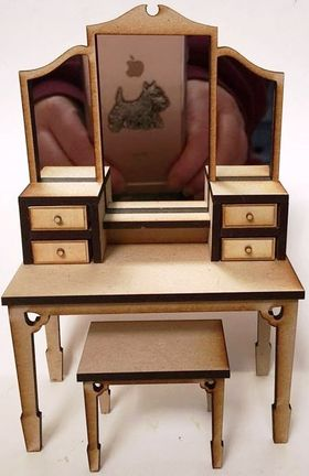 Dressing Table and Stool Kit Laser Cut