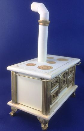 Hand Painted German Stove by Petite Romantique (Stove 106 x 65 x 72/163 with chimney)