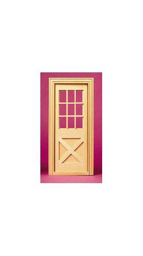"""1:6 Crossbuck Exterior Door (5 11/16""""W x 12 /16""""H x 9/16""""D; fits opening 5""""W x 12""""H x 3/8"""")"""