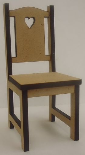 Dining Chair with Heart Pattern Laser Cut