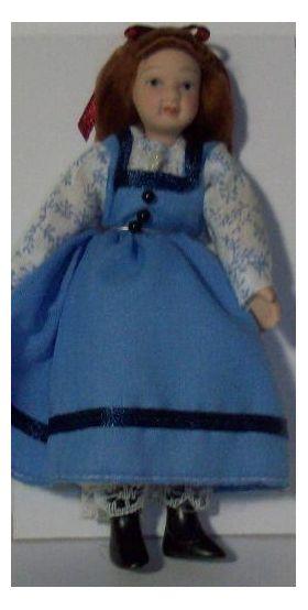 Little Girl in Blue Doll