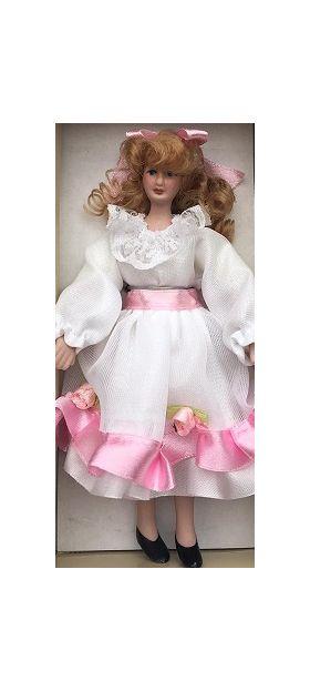 Girl in White Dress Doll