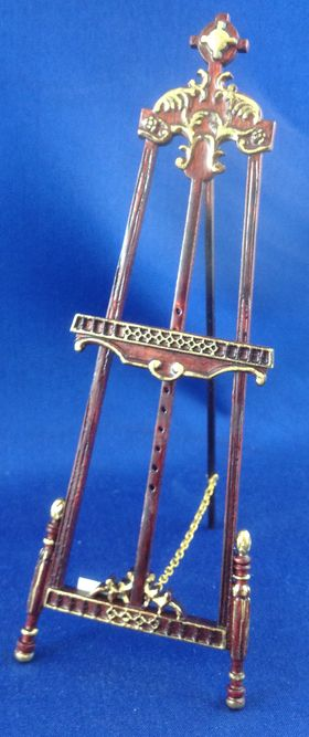 'Gallery' Easel Mahogany with Gold (155Hmm) By Bespaq