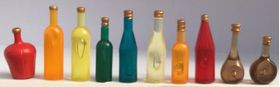Coloured Bottle Set 10Pc
