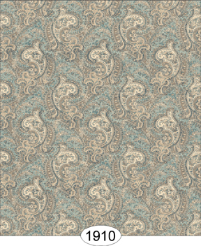 Wesley Cashmere Paisley Dusty Blue Wallpaper