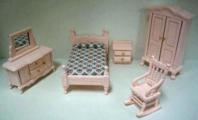 1:24 Bedroom Furniture Set Pink