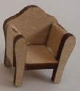 1:48 Armchair Kit Laser Cut