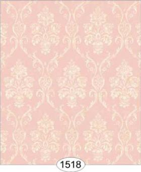 Camilla Damask Ivory on Pink Wallpaper (267 X 413mm)