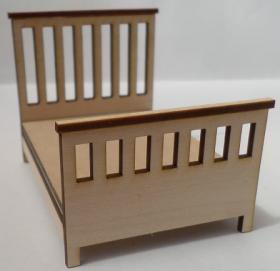 1:24 Laser Cut Double Bed Kit (79 x 58 x 60Hmm)