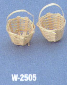 Bamboo Basket with Handles 2Pcs