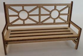 1:24 Laser Cut garden Bench Seat Kit