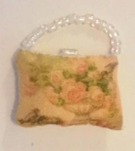 Silk Hand Bag by Lynne's Minis (25 x 18mm)