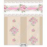 Daniella Floral Stripe - Beige Wallpaper (267 X 413mm)