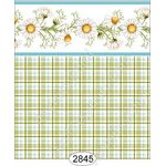 Daisy Blue Border - Plaid Wallpaper (267 X 413mm)