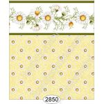 Daisy Green Border - Dot Yellow Wallpaper (267 X 413mm)