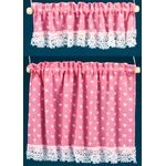 Cottage Curtains: Nursery Hearts, Pink