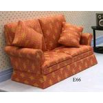 2 Seater Sofa Red Diamond Fabric (130Wx78Hx70Dmm)