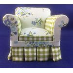 Armchair Floral Green/White