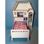 Girls' Bed Set - Dollhouse Bed w/Bookcase - Kit by Dragonfly