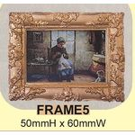 Old Masters Painting with Gilt Frame Small (50x60mm)