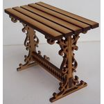 1:24 Laser Cut Garden Table Kit (42 x 20 x 31mmH)