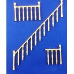 1:24 Balustrade and Railing Set for Staircase Laser Cut