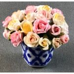 Blue/White Pots with Roses by Petite Romantique