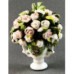 Large Roses in Painted Vase by Petite Romantique