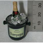 Champagne Bottle with Bucket of Ice (35H x 22mmDiam)
