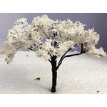 9cm Tree with White Flowers