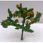 8cm Tree Green with Yellow Flowers