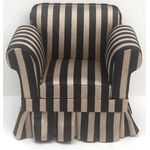 Armchair Black and Gold Striped (80 x 65 x 67mmH)