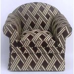 Armchair Brown with Cream DiamondArmchair Green Aqua Striped (85 x 65 x 77H)