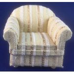 Armchair Cream Stripe (80x70x70mm)