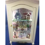 Christmas Display Cabinet with Lit Houses by Lynne's Minis (80W x 37D x 160Hmm)