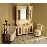 Italia Cream Bathroom Set 3Pc