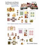 Decorator Sheet - Sunflowers and Bears by Dragonfly