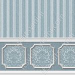 Annabelle Wainscot Mural Dark Blue Wallpaper (267 X 413mm)