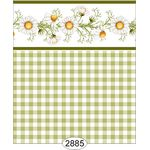 Daisy Green Border Check Wallpaper (267 X 413mm)