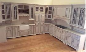 Cambridge Manor Kitchen in White Wash Finish
