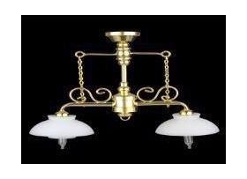 2 Down Arm Chandelier with Fluted Shade (60mmH x 70mmW)