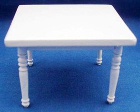 1:24 Square Dining Table White